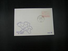 """BELG.1983 ATM46 FDC """"Vignette Affranchissement/Automaatzegels """" - Franking Machines"""