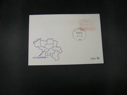 """BELG.1983 ATM43 FDC """"Vignette Affranchissement/Automaatzegels """" - Franking Machines"""