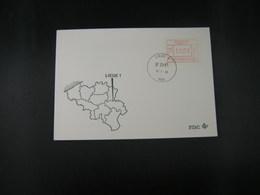 """BELG.1983 ATM44 FDC """"Vignette Affranchissement/Automaatzegels """" - Franking Machines"""