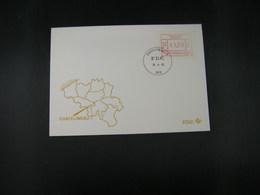 """BELG.1983 ATM40 FDC """"Vignette Affranchissement/Automaatzegels """" - Franking Machines"""