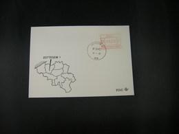 """BELG.1983 ATM34 FDC """"Vignette Affranchissement/Automaatzegels """" - Franking Machines"""