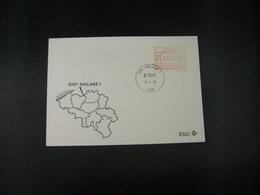"""BELG.1983 ATM27 FDC """"Vignette Affranchissement/Automaatzegels """" - Franking Machines"""