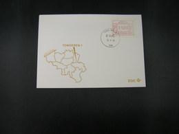 """BELG.1983 ATM30 FDC """"Vignette Affranchissement/Automaatzegels """" - Franking Machines"""