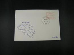 """BELG.1983 ATM25 FDC """"Vignette Affranchissement/Automaatzegels """" - Franking Machines"""