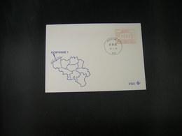 """BELG.1983 ATM23 FDC """"Vignette Affranchissement/Automaatzegels """" - Franking Machines"""