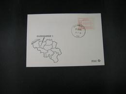 """BELG.1983 ATM24 FDC """"Vignette Affranchissement/Automaatzegels """" - Franking Machines"""