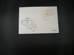 """BELG.1983 ATM22 FDC """"Vignette Affranchissement/Automaatzegels """" - Franking Machines"""