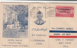 Cuba / Airmail / U.S. / Lindbergh / Hotels - Cuba
