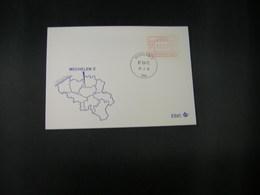 """BELG.1983 ATM20 FDC """"Vignette Affranchissement/Automaatzegels """" - Franking Machines"""