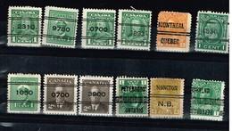 Lot Canda Préoblités Timbres à Identifier - Stamps