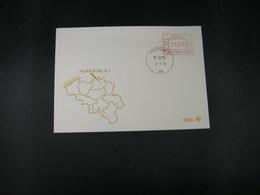 """BELG.1983 ATM14 FDC """"Vignette Affranchissement/Automaatzegels """" - Franking Machines"""