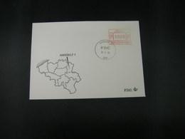 """BELG.1983 ATM13 FDC """"Vignette Affranchissement/Automaatzegels """" - Franking Machines"""