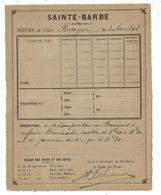 ENTIER 15C SAGE CARTE LETTRE REPIQUAGE SAINTE BARBE PARIS 1898 - Entiers Postaux