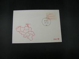 """BELG.1983 ATM11 FDC """"Vignette Affranchissement/Automaatzegels """" - Franking Machines"""