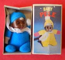 RARE Baby PELE Vintage Matchbox Black Baby Doll Bébé Noir Hommage Roi Pelé Foot  Boite 7x4x2.5 Cms - Toy Memorabilia
