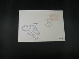 """BELG.1983 ATM12 FDC """"Vignette Affranchissement/Automaatzegels """" - Franking Machines"""