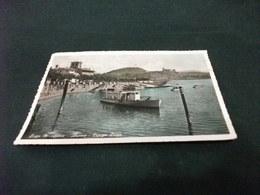 NAVE  SHIP TRAGHETTO ALBATRO IN PARTENZA DALL'IMBARCADERO DI ARONA LUNGO LAGO LAGO MAGGIORE  CASTELLO SFONDO - Fähren