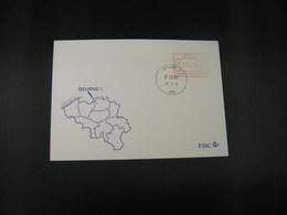 """BELG.1983 ATM9 FDC """"Vignette Affranchissement/Automaatzegels """" - Franking Machines"""
