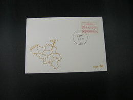 """BELG.1983 ATM10 FDC """"Vignette Affranchissement/Automaatzegels """" - Franking Machines"""