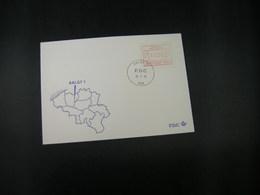 """BELG.1983 ATM7 FDC """"Vignette Affranchissement/Automaatzegels """" - Franking Machines"""