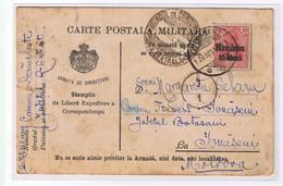 Romania Carte Postala Militara 1918 WW I  - Ocupatia Germana, Cenzura Militara! - Lettres 1ère Guerre Mondiale
