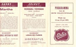 Pub Reclame Programma Ciné Cinema Bioscoop - Capitole Select Savoy Majestic - Gent - 1973 - Cinema Advertisement