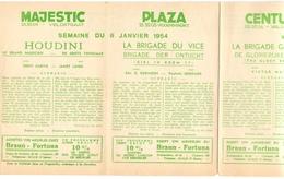 Pub Reclame Programma Ciné Cinema Bioscoop - Majestic - Plaza - Century - Rex - Gent 1954 - Cinema Advertisement