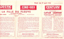 Pub Reclame Programma Ciné Cinema Bioscoop - Majestic - Plaza - Century - Rex - Gent 1956 - Cinema Advertisement