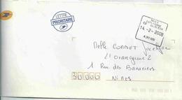 Cachet Manuel Carré De Nimes Esplanade - Sur Enveloppe De Service - Cachets Manuels