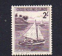 COCOS Is, 1963 2/- SAILBOAT USED - Cocos (Keeling) Islands