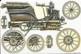 Découpis Biscottes St Luc  - Thème Voiture Ancienne : Panhard -Levassor France (1895) - Victorian Die-cuts