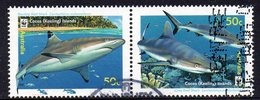 COCOS Is, 2005  50c SHARK PAIR USED - Cocos (Keeling) Islands