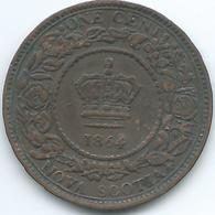 Nova Scotia - Victoria - 1864 - 1 Cent - KM8 - Canada