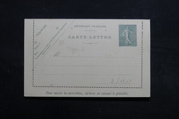 FRANCE - Entier Postal Type Semeuse Non Circulé -  L 31638 - Postal Stamped Stationery