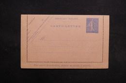 FRANCE - Entier Postal Type Semeuse Non Circulé -  L 31639 - Postal Stamped Stationery