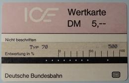 GERMANY - Test - ICE 1b - Typ 70 - 5DM - 1st Issue - VF Used - T-Series: Testkarten