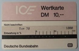 GERMANY - Test - ICE 2b - Typ 70 - 10DM - 1st Issue - VF Used - T-Series: Testkarten