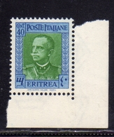ERITREA 1931 EFFIGIE RE VITTORIO EMANUELE III KING EFFIGY CENT. 40c  MNH - Eritrea