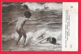 SALON DE PARIS -  V. DEMONT BRETON MATIN BLEU A WISSANT - Pittura & Quadri