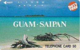 Rare Télécarte Japon / 110-48063 - Site GUAM SAIPAN USA ** DUTY FREE ** - Plage - Beach Japan Phonecard - 58 - Landschappen