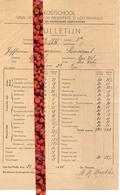 Schoolrapport Kostschool OLVr Presentatie - Lotenhulle - Germaine Smessaert 1944 - 1945 - Diploma & School Reports
