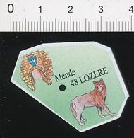 Magnet Le Gaulois Carte Géographique Département Lozère Loup Bête Du Gévaudan ??  01-mag2 - Magnets