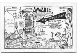 AYWAILLE : Rare Carte Publicitaire De La Maison Lemaire-Lenoir - Aywaille