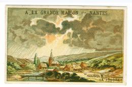 CHROMO DIDACTIQUE...SCIENCES....LA FOUDRE...PUB / A LA GRANDE MAISON ..NANTES - Kaufmanns- Und Zigarettenbilder