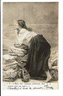 CPA - Carte Postale Belgique- Fantaisie- Une Dame Avec Son Luth En Prière-1904-VM3417 - Mujeres