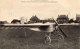 Aviation L' Aviateur Constructeur Gaston CAUDRON Sur Son Monoplan .  Au CROTOY ( 80 ) - France