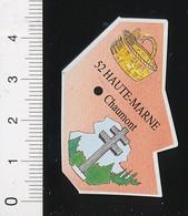 Magnet Le Gaulois Carte Géographique Département Haute-Marne Vannerie Croix Lorraine Mémorial Charles De Gaulle 01-mag2 - Magnets