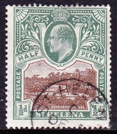 ST HELENA 1903KEDVII 1/2dBrown & Grey-GreenSG55FU - Saint Helena Island
