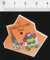 Magnet Le Gaulois Carte Géographique Département Indre-et-Loire Gargantua Vins De Touraine Oenologie Vin 01-mag2 - Magnets