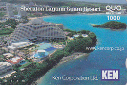 Carte Prépayée Japon - Site GUAM USA - Sheraton Laguna Resort - Japan Prepaid Quo Card - 61 - Landschappen
